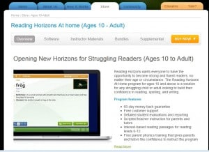 Reading Horizons page