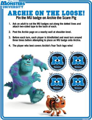 Monsters University ID and Game