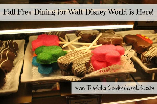 Fall Free Dining at Walt Disney World
