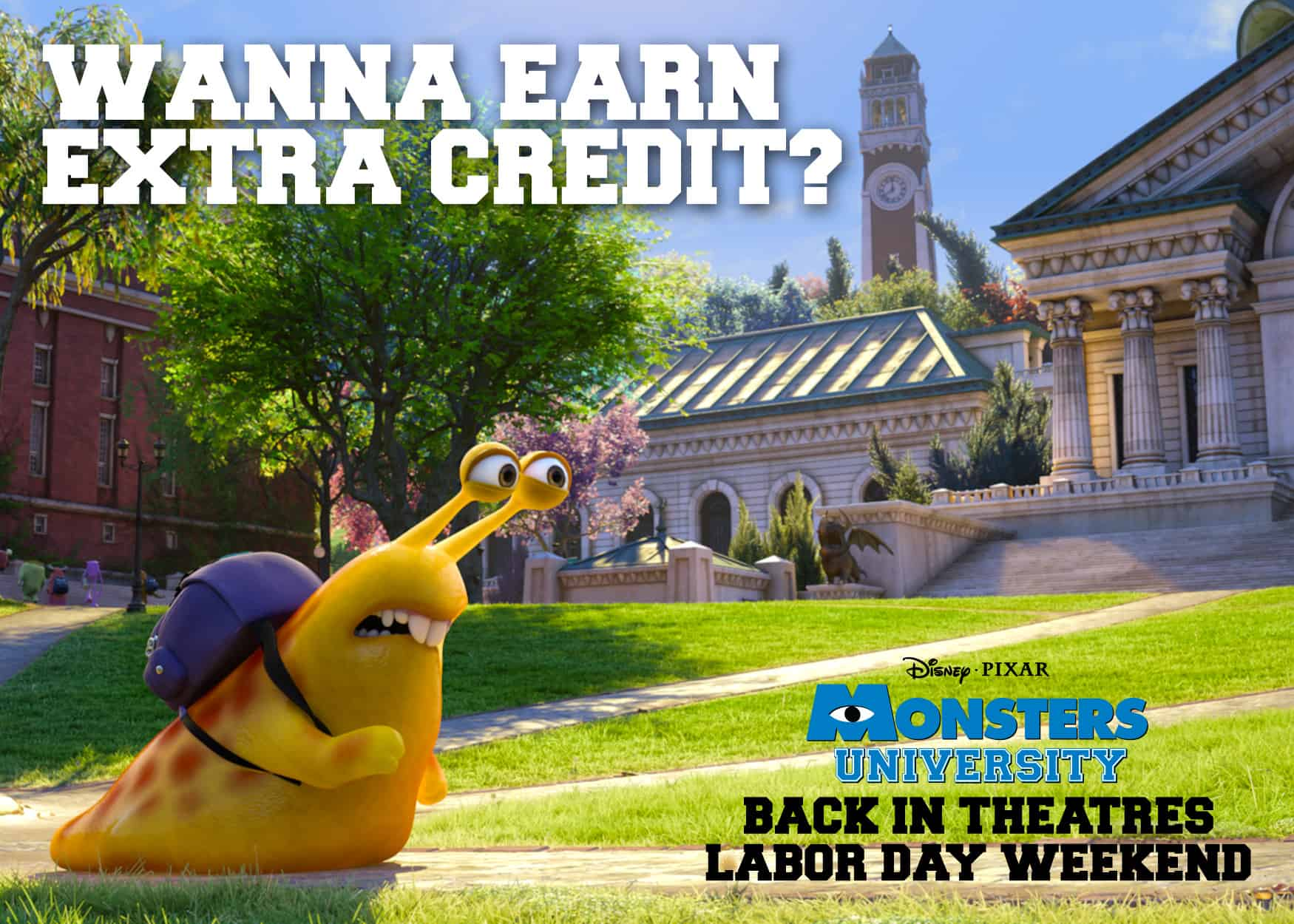 Monsters University Back in Theaters for Labor Day