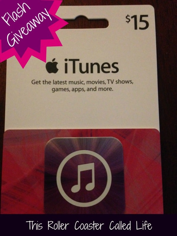 FLASH Giveaway!  $15 iTunes Gift Card