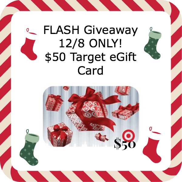 FLASH Giveaway Today Only!  $50 Target eGift Card
