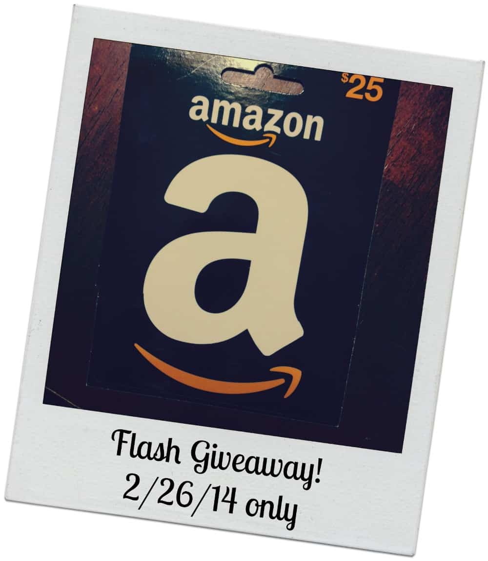 FLASH Giveaway – $25 Amazon Gift Card