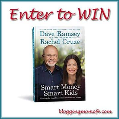 Smart Money Smart Kids book by Dave Ramsey and Rachel Cruze Giveaway