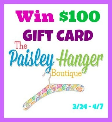 The Paisley Hanger Boutique Giveaway