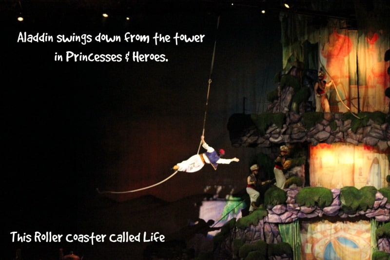 Aladdin Swinging from the Tower