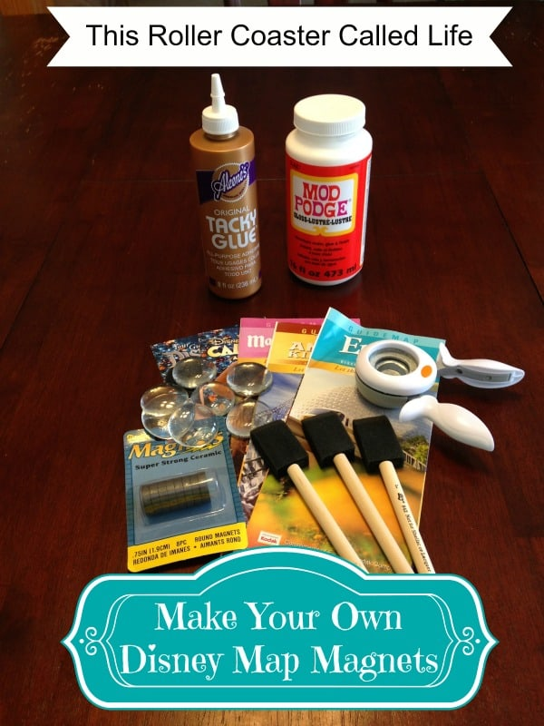 Make Your Own Disney Map Magnet Supplies