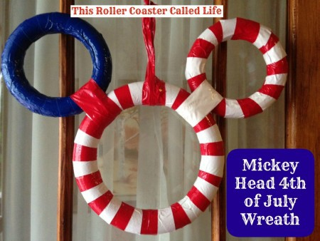 Mickey Head 4th of July Wreath