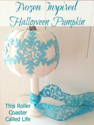Frozen Inspired Halloween Pumpkin