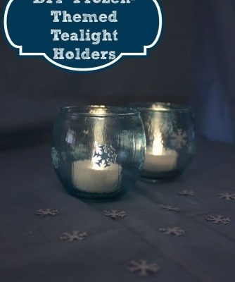 DIY Frozen-Themed Tealight Holders