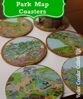 DIY Theme Park Map Coasters