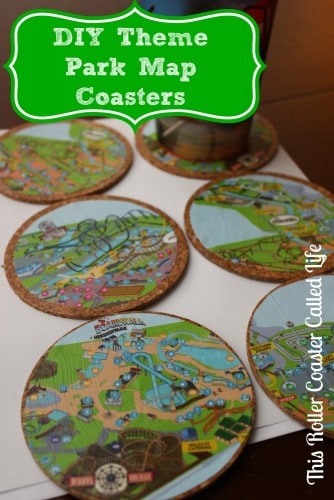 DIY Theme Park Map Coasters #DIY #ThemePark #Hersheypark #HersheyPA