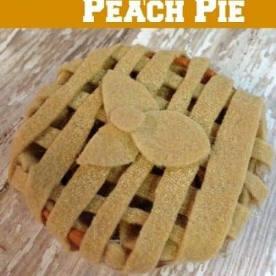 Scented Felt Peach Pie