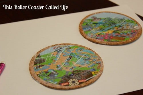 Theme Park Map Coasters Drying