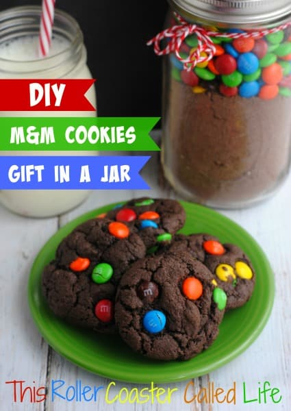 DIY M&M Cookies Gift in a Jar