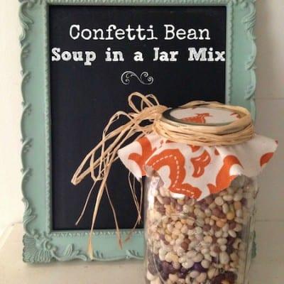 Confetti Bean Soup Gift in a Jar