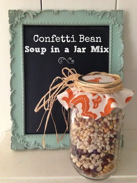 Confetti Bean Soup Gift in a Jar