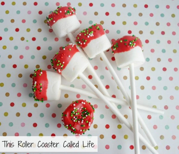 Christmas Marshmallow Pops Finished