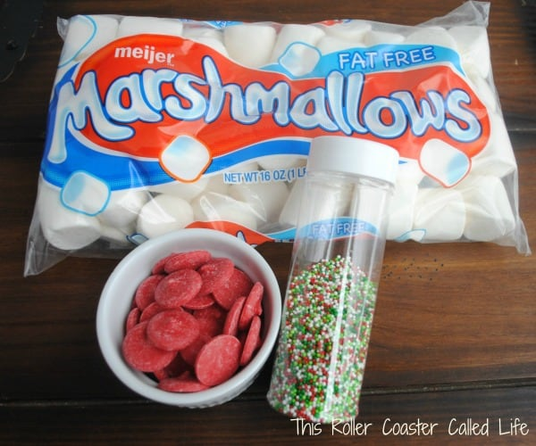 Christmas Marshmallow Pops Ingredients
