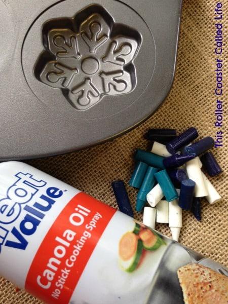 Frozen Snowflake Crayon Supplies
