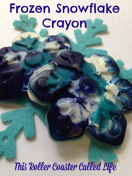 Frozen Snowflake Crayon