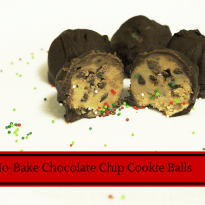 No Bake Chocolate Chip Cookie Dough Truffles