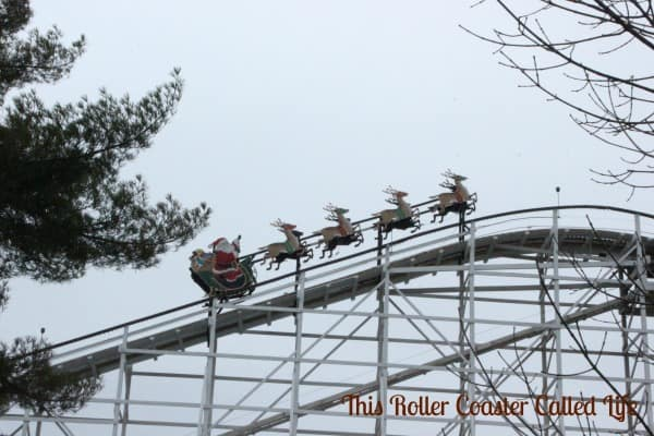Santa Clause on the Roller Coaster