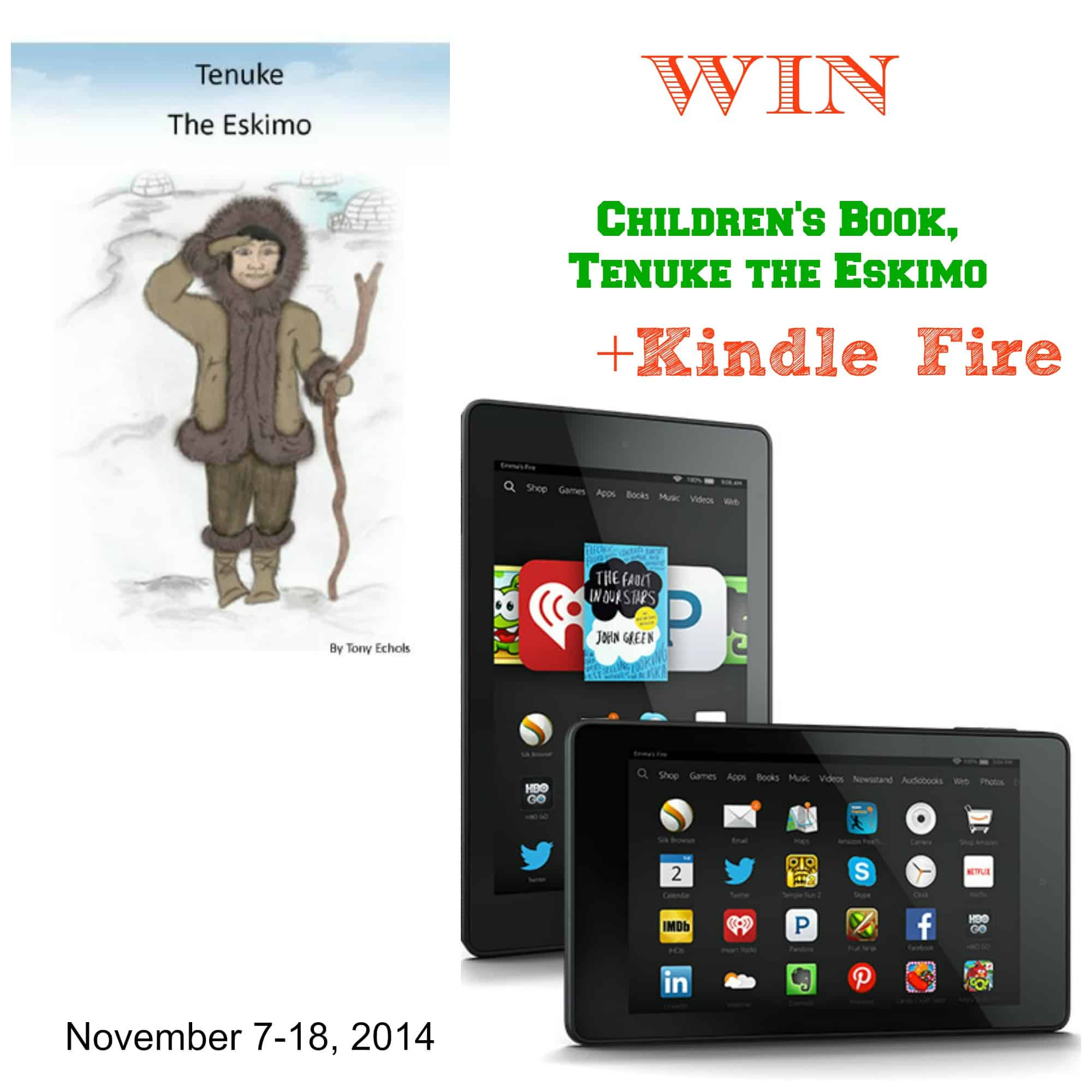Tenuke the Eskimo and Kindle Fire Giveaway