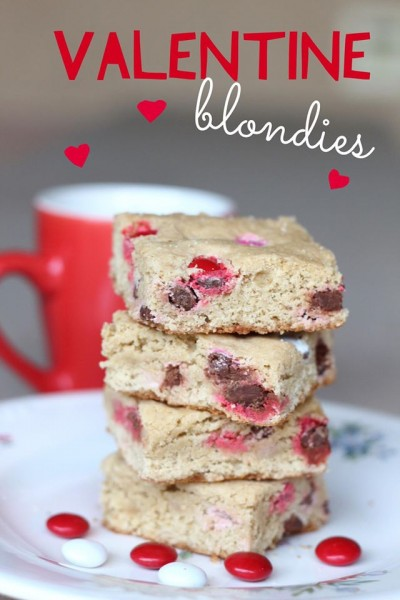 Valentine Blondies