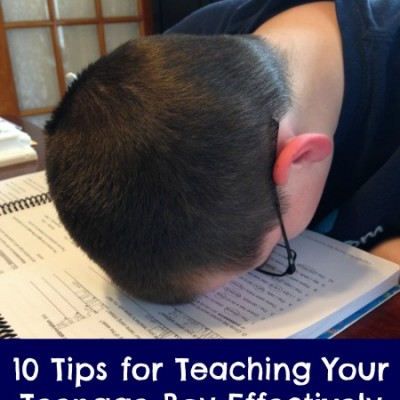 10 Tips for Teaching Your Teenage Boy Effectively