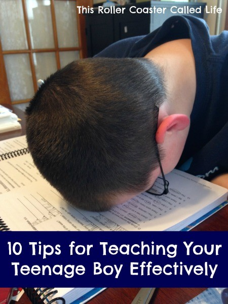 10 Tips for Teaching Your Teenage Boy