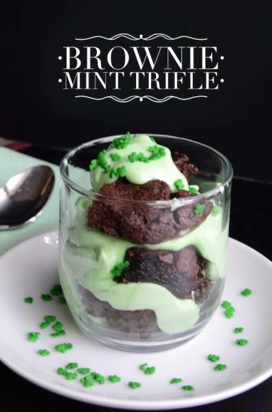 Brownie Mint Trifle
