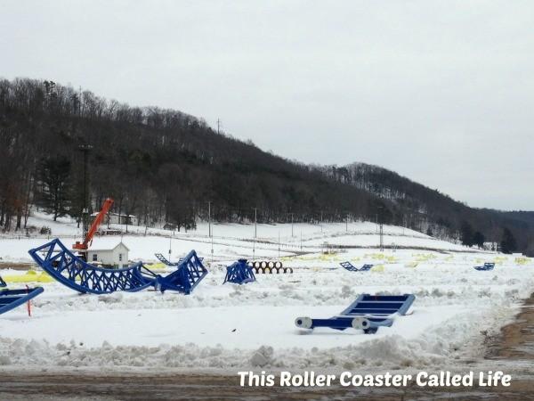Impulse Roller Coaster Parts in Parking Lot
