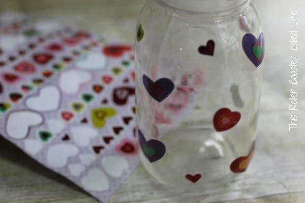 Jar with Stickers