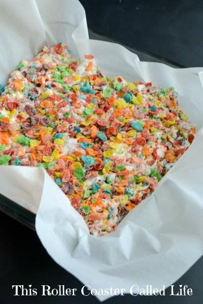 Rainbow Treats in a Pan