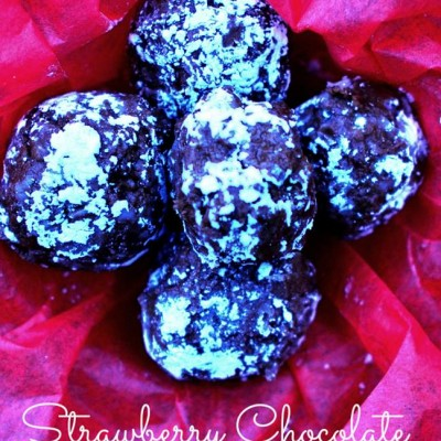 Strawberry Chocolate Truffles