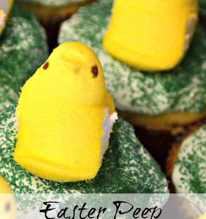 Easter Peep Surprise Cupcakes