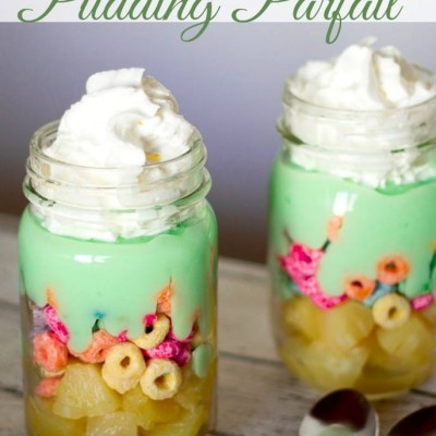 Hidden Pot O'Gold Pudding Parfait
