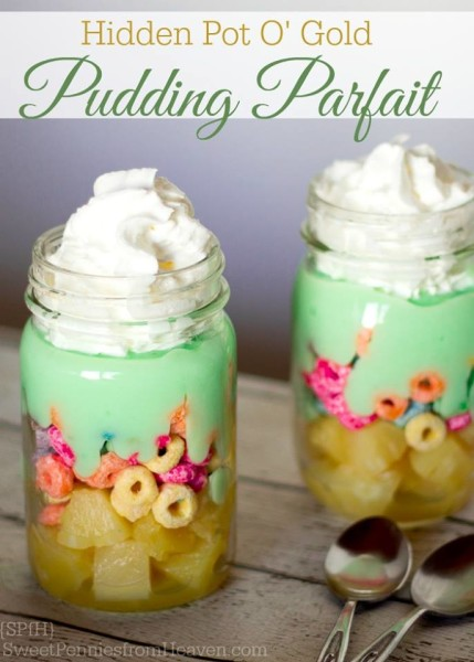Hidden Pot O Gold Pudding Parfait
