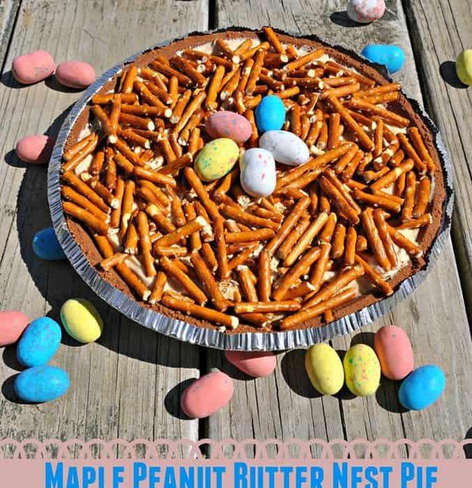 Maple Peanut Butter Nest Pie