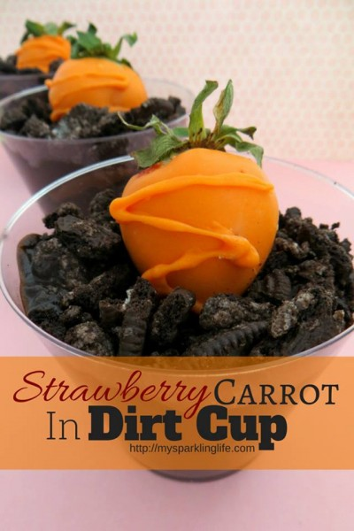 Strawberry Carrot in a Dirt Cup