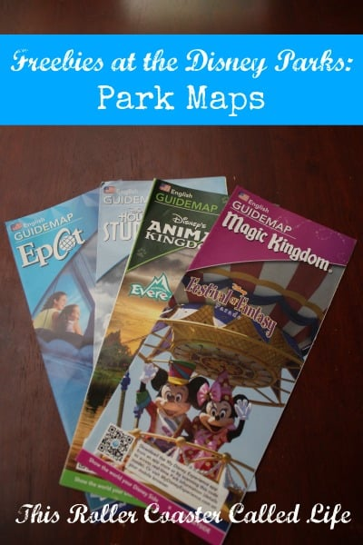 Freebies at the Disney Parks:  Park Maps