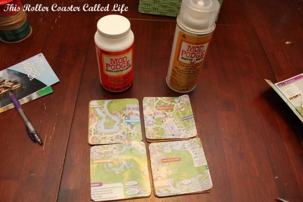 Walt Disney World Theme Park Map Coaster Supplies