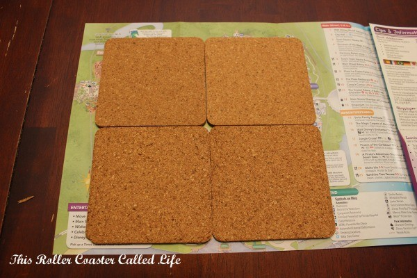 Walt Disney World Theme Park Map Cork Coasters