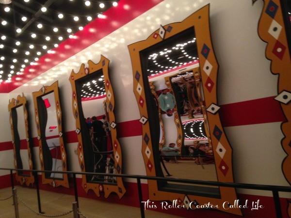 Fun House Mirrors in the Queue