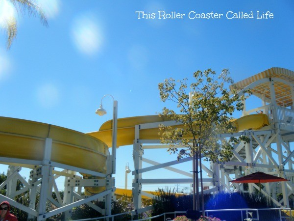 Rooftop slide Paradise Pier Hotel