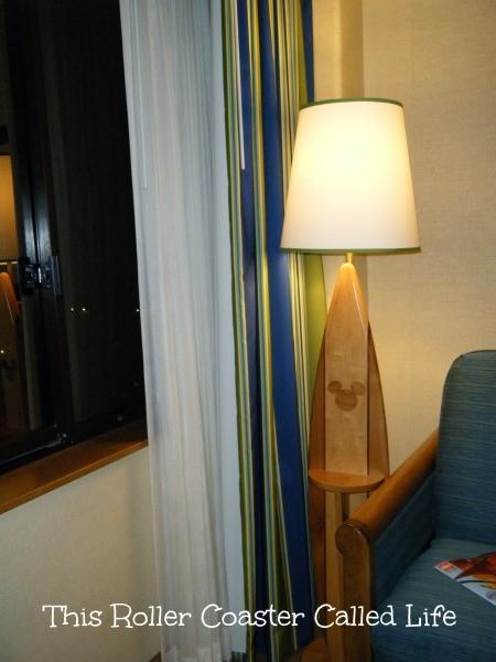 Surfboard Lamp Paradise Pier Hotel