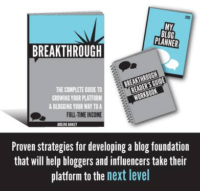 Breakthrough: The Complete Guide to Growing Your Platform & Blogging Your Way to a Full-Time Income eBook