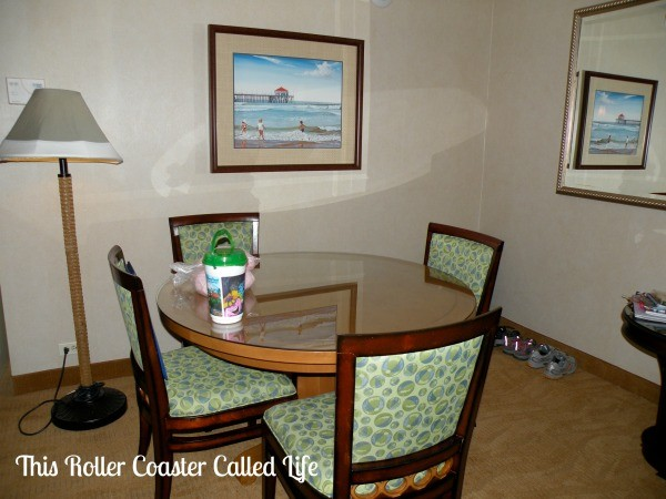 Disney Paradise Pier Hotel Family Suite Dining Table