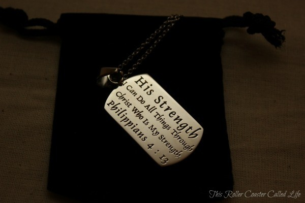 His Strength Dog Tag